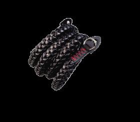 Braided V2 XL 125cm | Leder Kameragurt Black