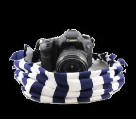 Navy Stripe | Kamera-Schalband Blue