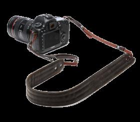 Presidio | Leder Kameragurt Dark Truffle