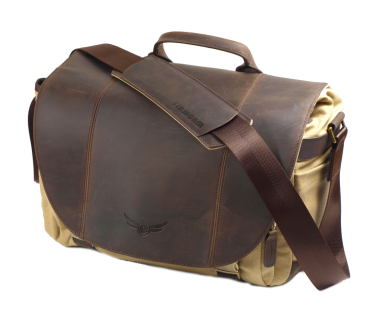 Angus Large 50/50 | Leder/Canvas Brown