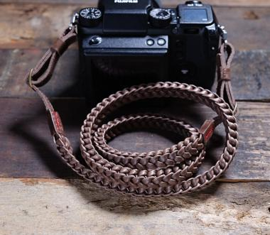 Braided Prime | Leder Kameragurt Brown
