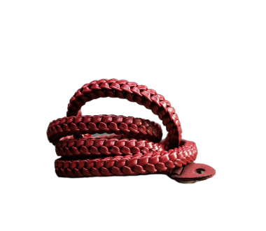 Braided 105cm | Leder Kameragurt Red