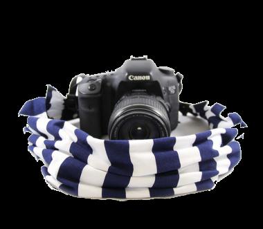 Navy Stripe | Kamera-Schalband