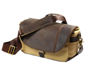 Angus Small 50/50 | Leder/Canvas Brown