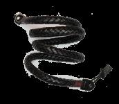 Whip 105cm | Leder Kameragurt Black