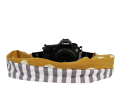 Luciano Brooklyn | Kamera-Schalband Grey/Mustard